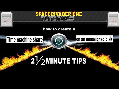 Time Machine Share on Unassigned Drive - 2 & half minute tips