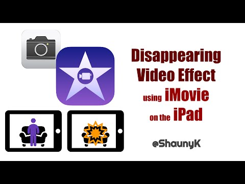 iPad Video Effects - Make Things Disappear Using iMovie And The Camera