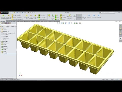 Solidworks tutorial | sketch ice cube tray in Solidworks