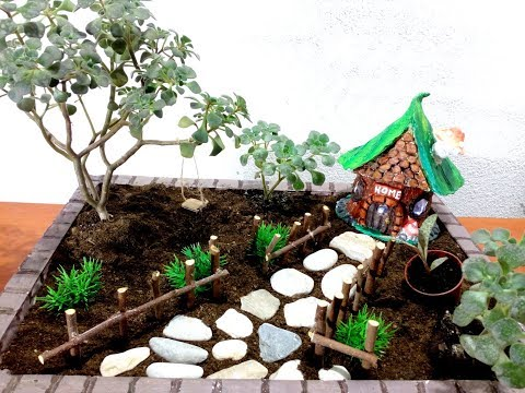 How To Make a Fairy Garden with Home  / DIY