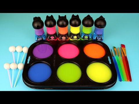 Learn Colors for Children Toddlers and Preschool Baby How to Make Frozen Paint and Surprise Toys