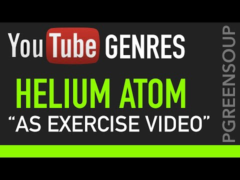Structure of a Helium Atom as an Exercise Video