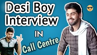 Haryanvi Boy Interview in Call Center | Funny | Saturday Shooters