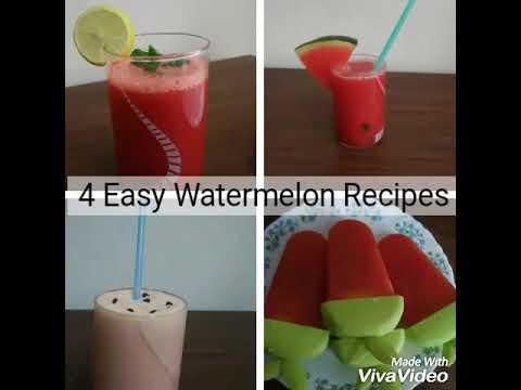 4 Easy Watermelon Recipes