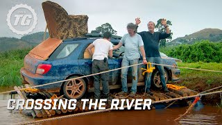 Crossing the river - Top Gear Africa Special - Series 19 - BBC