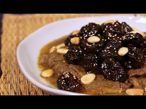 Beef Tagine with Prunes / طاجين اللحم بالبرقوق - CookingWithAlia - Episode 413