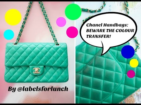 Chanel handbags! Beware The Colour Transfer! Watch this before you buy a light color Chanel bag!