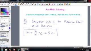 Converting Between Celsius Kelvin And Fahrenheit