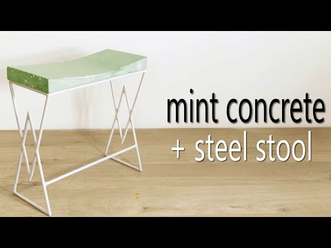 DIY Mint Concrete Stool || How to Make