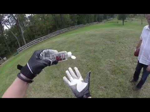 How to Make Football Gloves Sticky --- Use Grip Boost