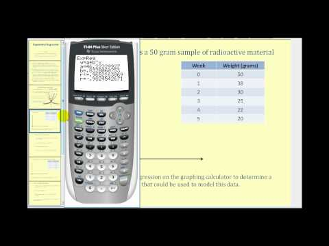Exponential Regression on the TI84 - Example 1