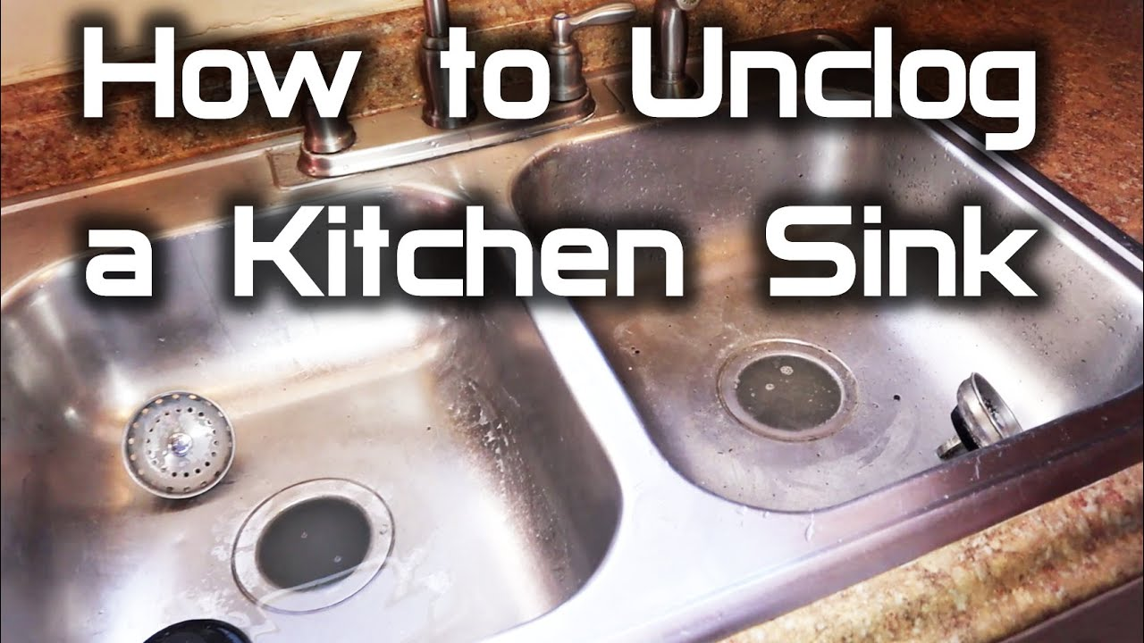 How To Unclog a Kitchen Sink   Both sides