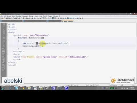 The window.open Function in Java Script (1/2)