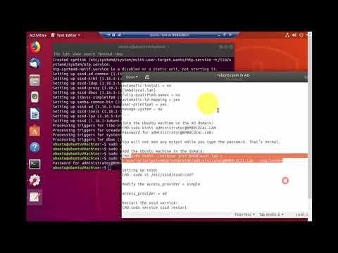 how to join an ubuntu 18.04 desktop into an active directory domain full video