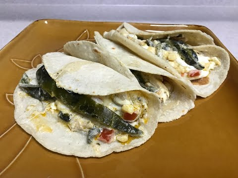 Tacos Rajas con Crema Estilo8a