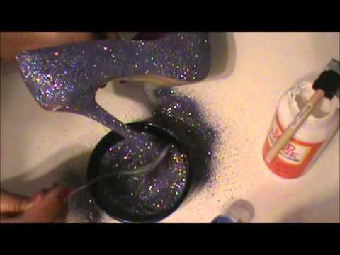 DIY Glitter Heel :))