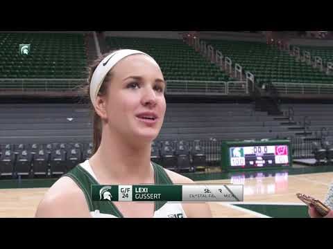 Spartans Stop Badgers, 69-61, on Senior Night