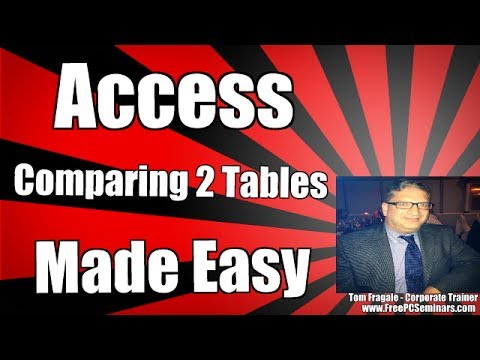 How to compare 2 tables in Access - Create a Find Unmatched Query in Access 2007 2010 2013 2016