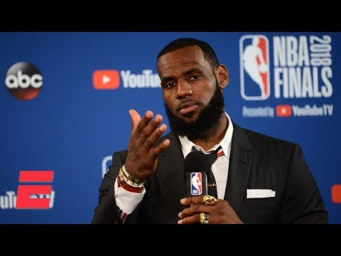 LeBron James walks out of Game 1 press conference after question about JR Smith's blunder   ESPN