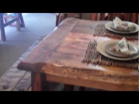 Reclaimed Wood Table - Rustic Aspen Dining Table - Barnwood Dining Table