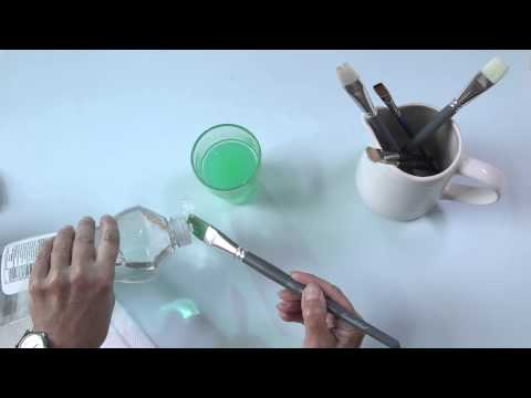 How to Paint - Cleaning Brushes