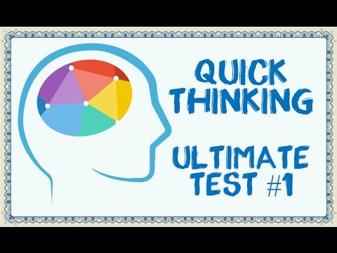 Quick Thinking Ultimate Test #1 - 90% FAIL!