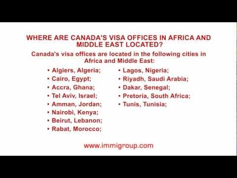 Where are Canada's visa offices in Africa and Middle East located?