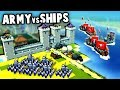 KNIGHTS ARMY vs VIKING SHIPS!  (Kingdoms and Castles New Update Gameplay)
