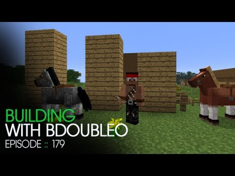 Minecraft Building with BdoubleO - Episode 179 - Horse Organizing