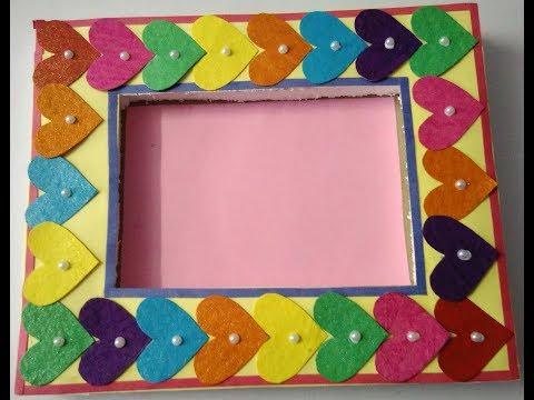 Hand made photo frame   simple & beautiful photo frame