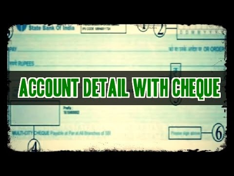 How to | know Bank Account Detail with Cheque