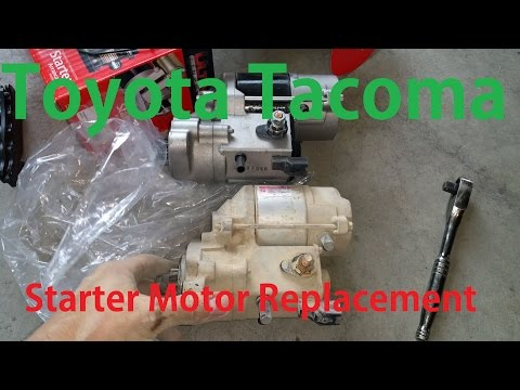 Toyota Tacoma Starter Motor Replacement, First Gen truck