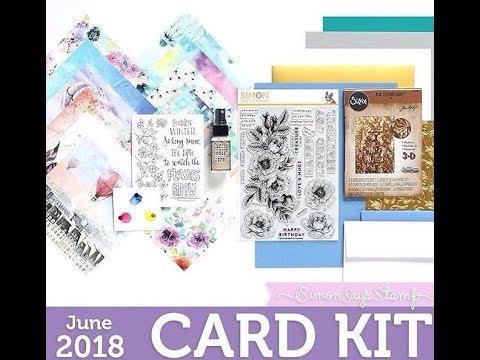 SSS June 2018 Card Kit Unboxing! | Fly Me Away Card Kit