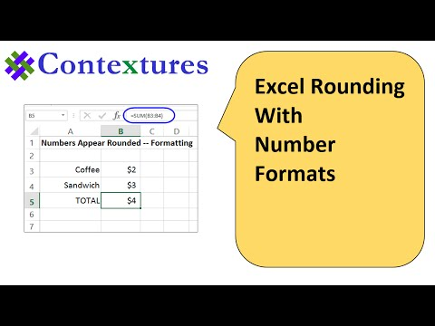 Excel Rounding With Number Formats