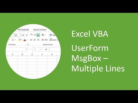 Excel UserForm MsgBox #3 - Message Box with Multiple Lines (VBA)