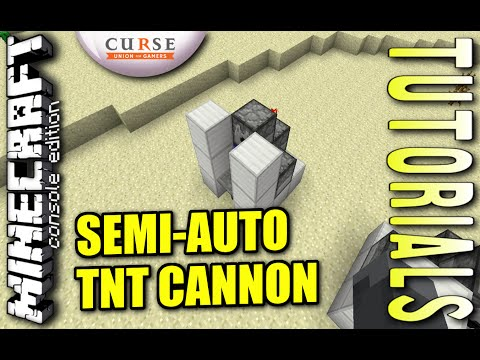 MINECRAFT - PS4 - SEMI - AUTO TNT CANNON - HOW TO - TUTORIAL ( PS3 / XBOX / PC / VITA ) WII