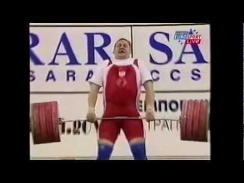 Pawel Najdek 250kg Clean and Jerk @2001 Worlds