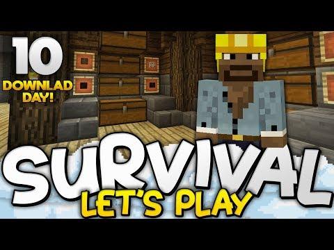 UNDERGROUND STORAGE ROOM!!! - Survival Let's Play Ep. 10 (DD) - Minecraft Bedrock (PE W10 XB1)