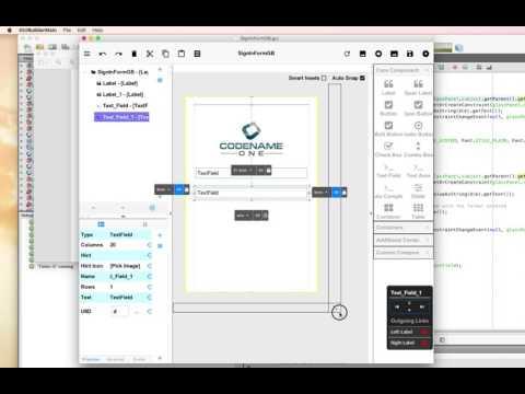 CN1 GUI Builder (3.7.2) : Create a Sign-In Form