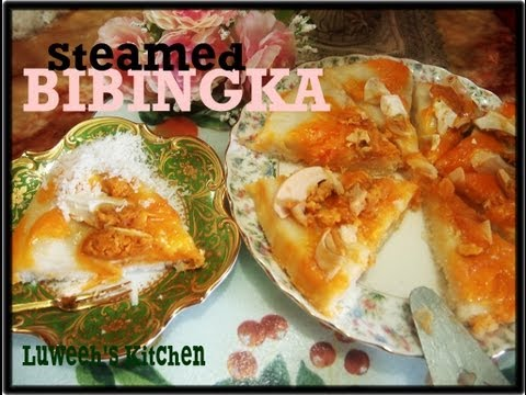 Steamed BIBINGKA with quezo and salted egg