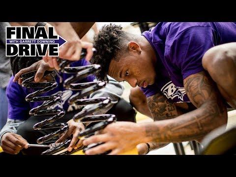 Hayden Hurst, Orlando Brown Jr., Ravens Players, Staff Build Playground in Baltimore | Final Drive