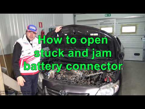 How to open stuck and jam battery cable connector. Toyota