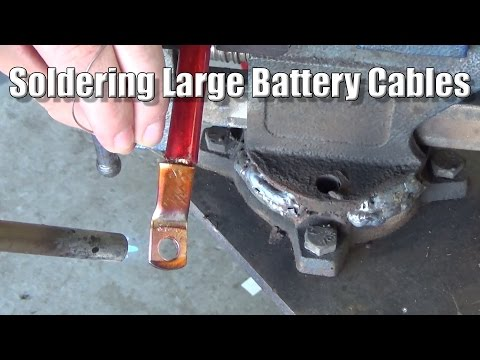 Soldering Large Battery Cables