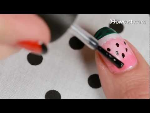 How to Create a Watermelon Design | Nail Art