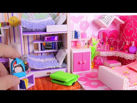 4 DIY Miniature Dollhouse Rooms