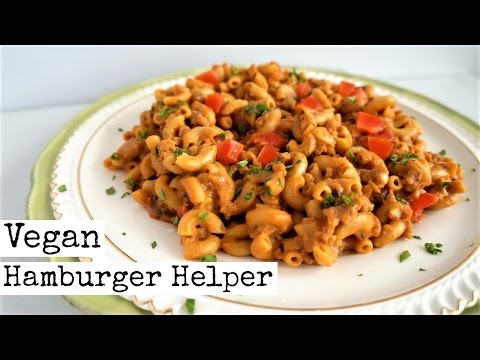 Easy Vegan Hamburger Helper