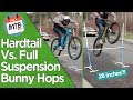 Are Full Suspensions Easier to Bunny Hop Than A Hardtail??? - The Ultimate Bunny Hop Test