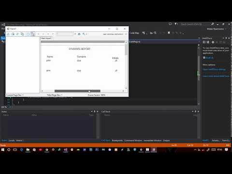 how to create crystal reports using odbc connection, C# 6 programming - 2017