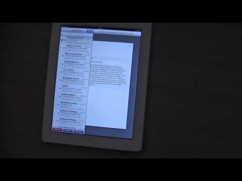 How to easily delete Emails from an iPad