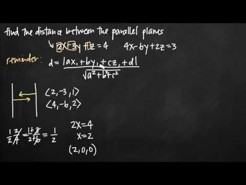 Distance between parallel planes (vectors) (KristaKingMath)